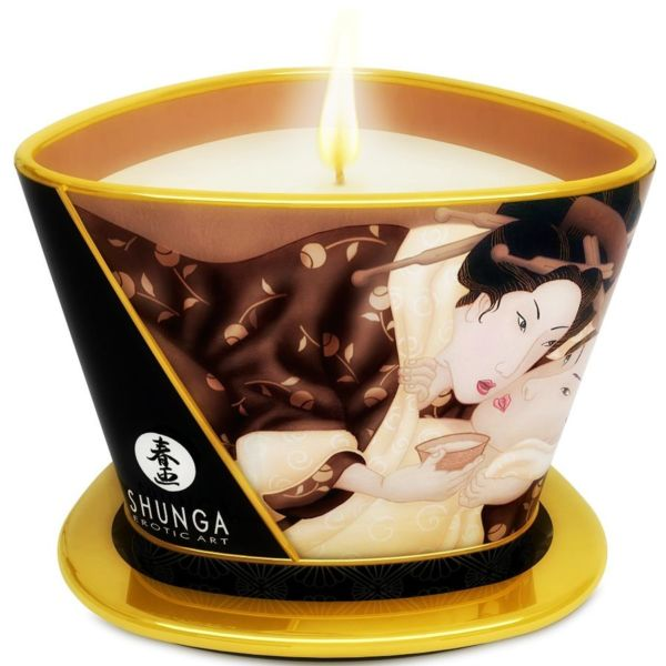 MINI CARESS BY CANDELIGHT VELA MASAJE CHOCOLATE 170 ml. by Shunga 1