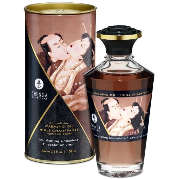 ACEITE MASAJE EFECTO CALOR SABOR INTENSO CHOCOLATE 100  ml. by Shunga 1