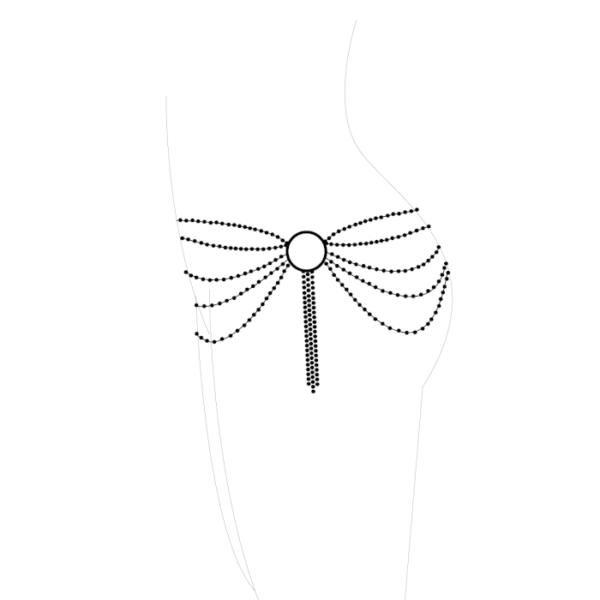 Joya de Cadenas Metálicas Para La Cintura Plateada By Magnifique 2