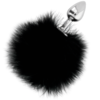 Extra Buttplug Anal con Cola negro 7cm by Darkness 2