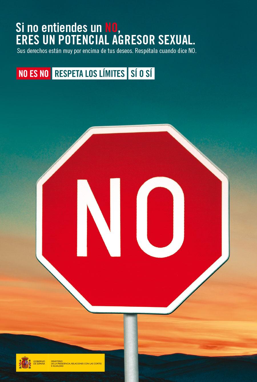 cartel Campaña contra la violencia sexual